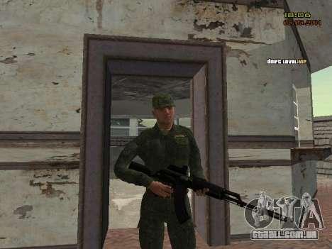 O exército russo moderno para GTA San Andreas nono tela