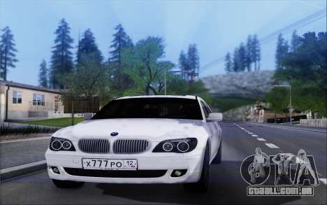 BMW 760Li E66 para GTA San Andreas esquerda vista
