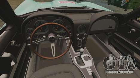 Chevrolet Corvette C2 1967 para GTA 4 vista de volta