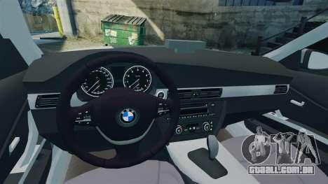 BMW 330i Touring Metropolitan Police [ELS] para GTA 4 vista interior