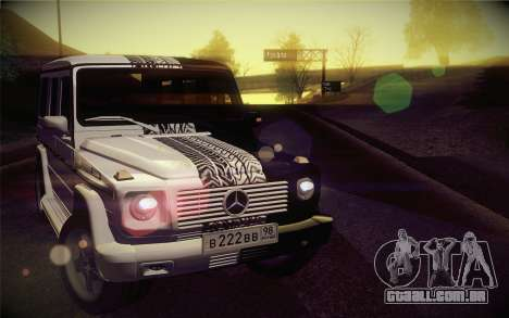 Mercedes-Benz G55 AMG para GTA San Andreas vista traseira