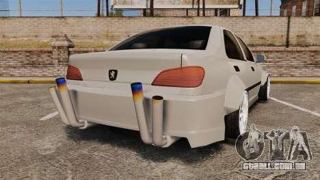 Peugeot 406 v2.0 para GTA 4 traseira esquerda vista