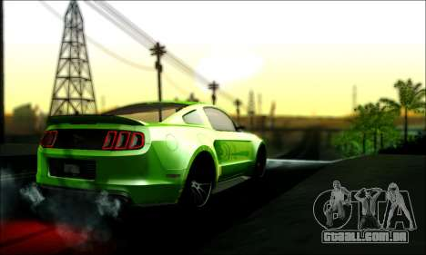 Ford Mustang GT 2013 v2 para GTA San Andreas esquerda vista