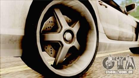 Mercedes-Benz SL65 AMG BS 2009 para GTA San Andreas traseira esquerda vista