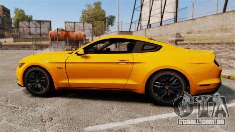 Ford Mustang GT 2015 v2.0 para GTA 4 esquerda vista
