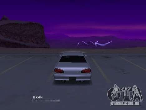 Elegy Stock Glases para GTA San Andreas traseira esquerda vista