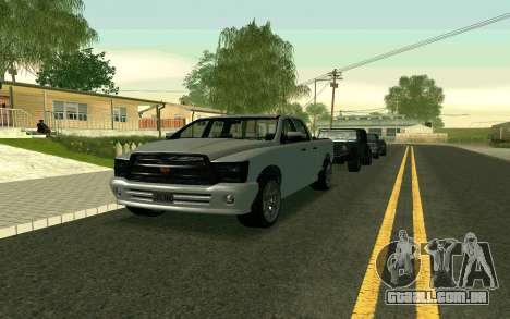 GTA V Bison Version 2 FIXED para GTA San Andreas esquerda vista