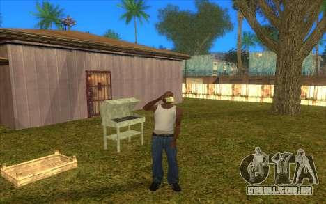 Barbecue para GTA San Andreas por diante tela