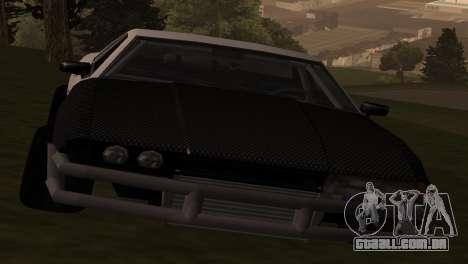 Elegy OriginalDrift para GTA San Andreas traseira esquerda vista