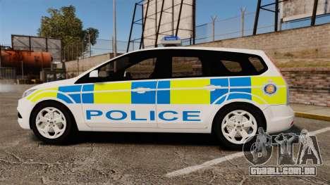 Ford Focus Estate Essex Police [ELS] para GTA 4 esquerda vista