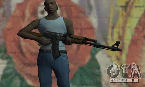 AK47 de L4D para GTA San Andreas terceira tela