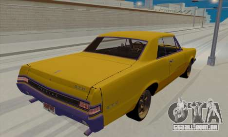 Pontiac GTO 1965 para GTA San Andreas traseira esquerda vista