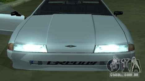 Elegy 280sx para GTA San Andreas vista inferior