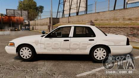 Ford Crown Victoria Traffic Enforcement [ELS] para GTA 4 esquerda vista