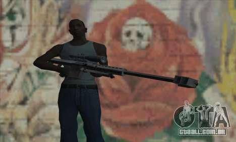 M82A1 Barret .50cal para GTA San Andreas terceira tela