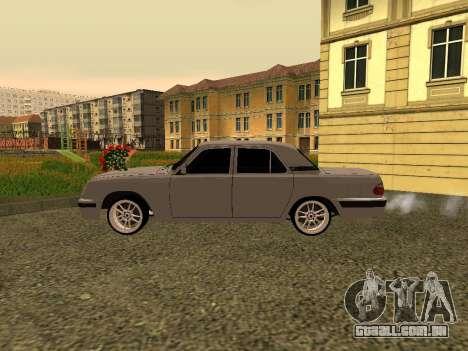 GAZ 31105 Volga para GTA San Andreas traseira esquerda vista
