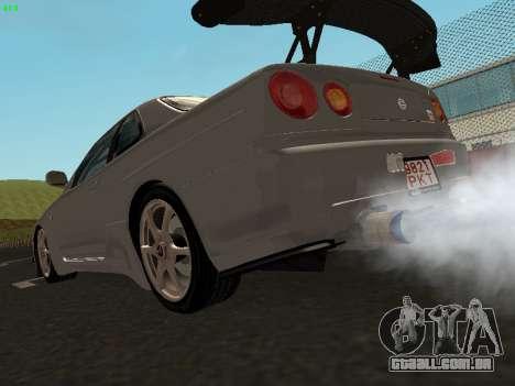 Nissan Skyline BNR34 para GTA San Andreas esquerda vista