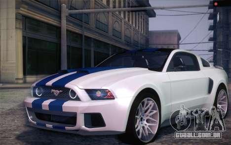 Ford Mustang 2013 - Need For Speed Movie Edition para GTA San Andreas esquerda vista