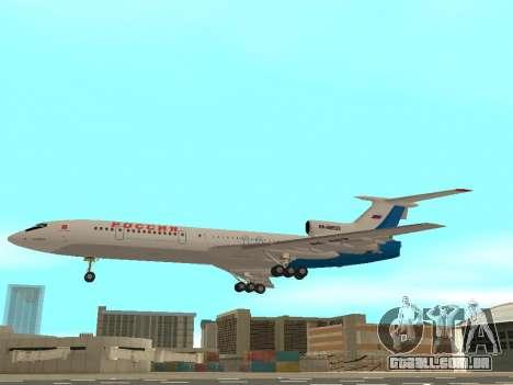 Tu-154 B-2 SCC da Rússia para GTA San Andreas esquerda vista