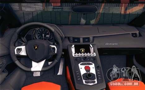 Lamborghini Aventador LP 700-4 para GTA San Andreas vista direita