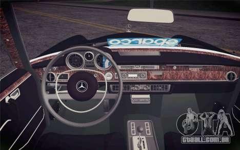 Mercedes-Benz 300 SEL para GTA San Andreas vista direita