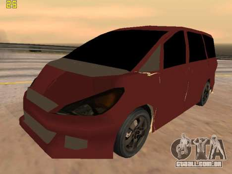 Toyota Estima 2wd para GTA San Andreas vista interior