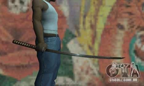 Samurai katana para GTA San Andreas terceira tela