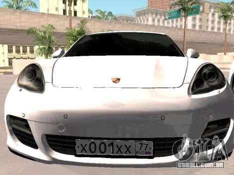 Porsche Panamera 2011 para GTA San Andreas vista traseira