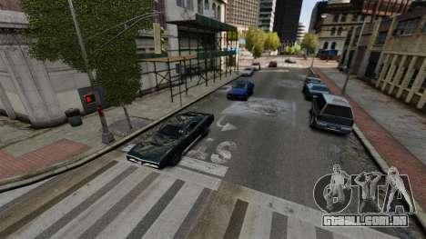 O tráfego real para GTA 4 por diante tela