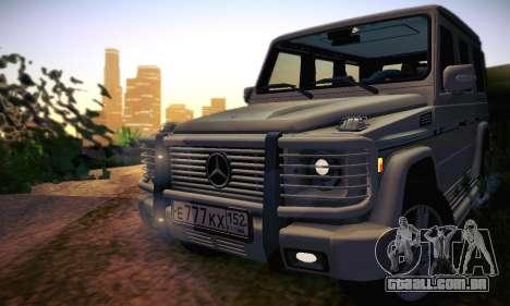 Mercedes-Benz G500 para GTA San Andreas vista inferior