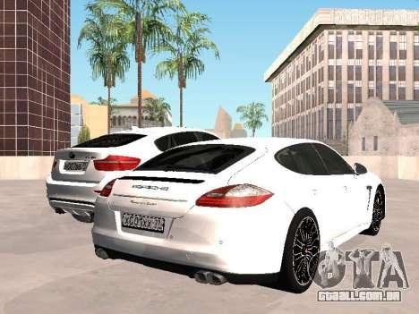 Porsche Panamera 2011 para GTA San Andreas traseira esquerda vista