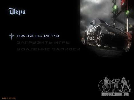Menu de NFS para GTA San Andreas sexta tela