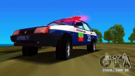 VAZ 21099 milícia para GTA Vice City vista inferior