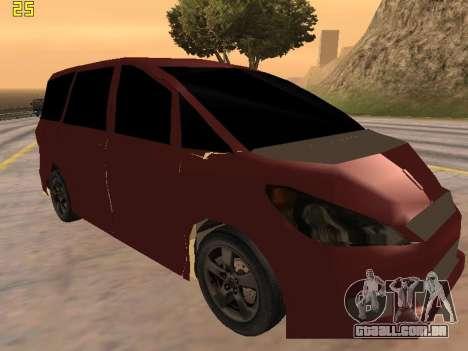 Toyota Estima 2wd para GTA San Andreas traseira esquerda vista