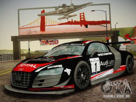 Audi R8 LMS Ultra W-Racing Team Vinyls para GTA San Andreas vista direita