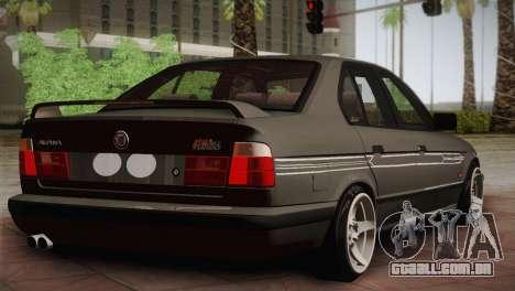 BMW E34 Alpina B10 para GTA San Andreas traseira esquerda vista