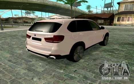 BMW X5 F15 para GTA San Andreas esquerda vista