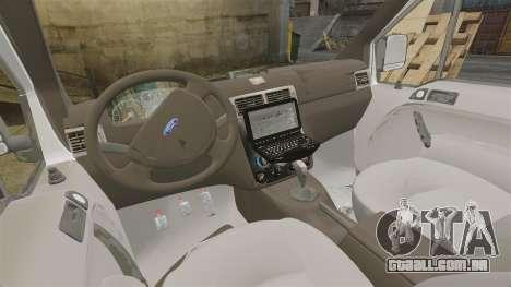 Ford Transit Connect Turkish Police [ELS] v2.0 para GTA 4 vista interior