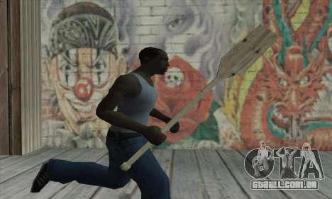 The wooden paddle para GTA San Andreas terceira tela