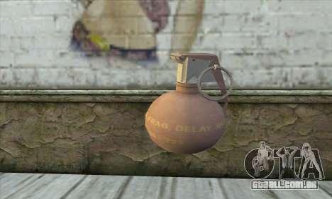 Granada de 3 Postal para GTA San Andreas