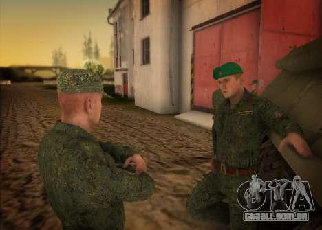O exército russo moderno para GTA San Andreas terceira tela