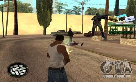 C-HUD Army Troops para GTA San Andreas terceira tela