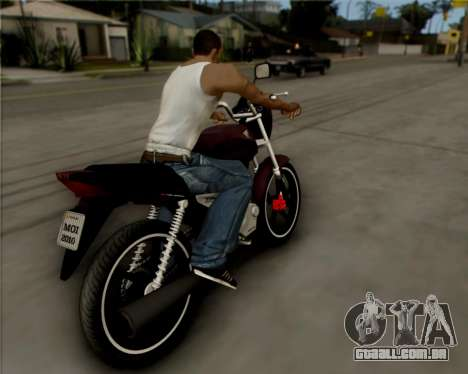 Honda Titan para GTA San Andreas vista direita