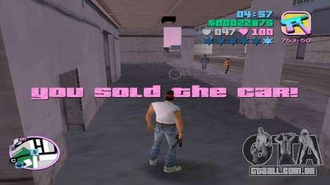A venda ilegal de automóveis para GTA Vice City