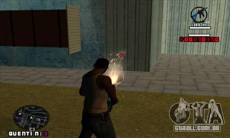 C-HUD Quentin para GTA San Andreas terceira tela