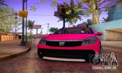 Dacia Sandero para GTA San Andreas vista traseira