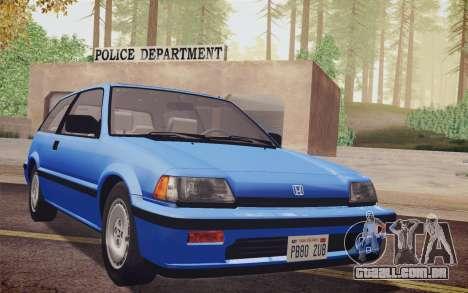 Honda Civic S 1986 IVF para GTA San Andreas