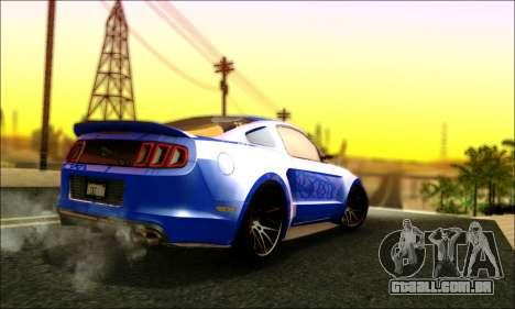 Ford Mustang GT 2013 v2 para GTA San Andreas vista direita