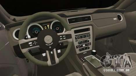 Ford Mustang 2015 Rocket Bunny TKF para GTA 4 vista interior