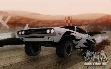 Dodge Challenger 1971 Aftermix para GTA San Andreas esquerda vista